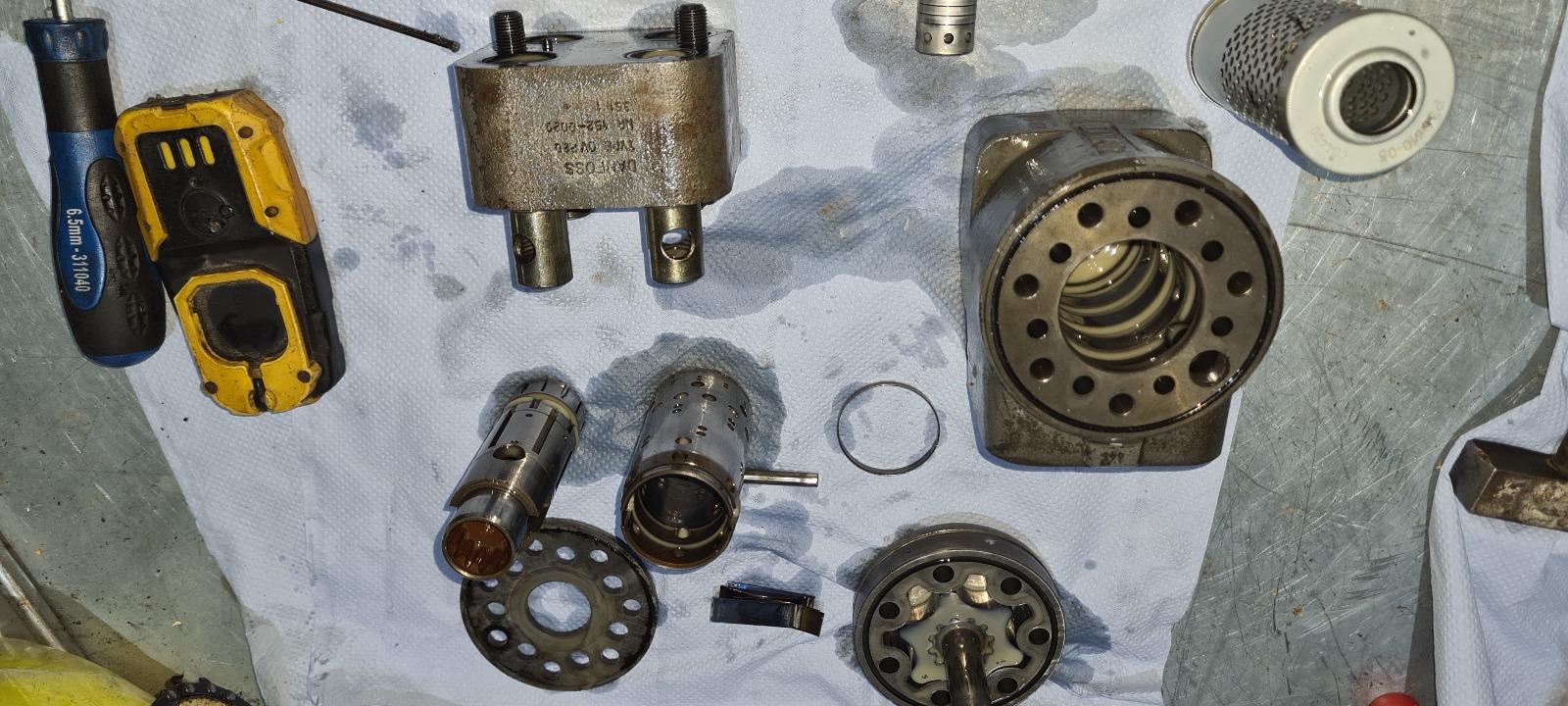 Revisie van een holder, onderdelen